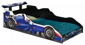 Cama Carro Fórmula 1 Azul Solteiro - J&A Móveis