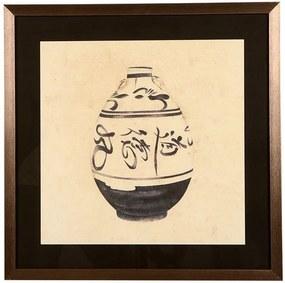 Quadro Decorativo com Moldura Louça de Porcelana