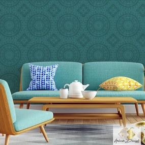 Adesivo Ambiente Decorado Mandala Blue