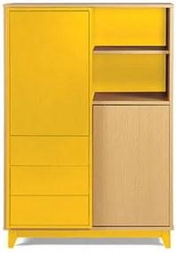 Adega Quadrato Cor Natural Com Amarelo - 29516 Sun House