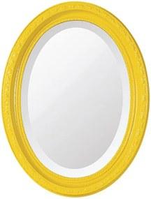 Espelho Oval Bisotê Amarelo Happy Pequeno