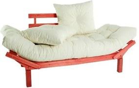 Sofa Cama Country Comfort Vermelho + Almofadas Futon 190cm - 61403 Sun House