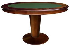 Mesa de Jogo Lugano com Gavetas Toch e Porta Copos Personalizado Madeira Maciça Design Clássico