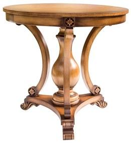 Mesa de Apoio Nicolau Decorativa Madeira Maciça Design Clássico Avi Móveis