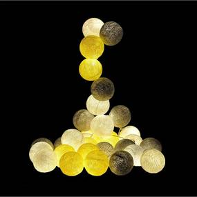 Fio De Luz Paris Kit 35 Bolas 220v Cormilu Amarelo