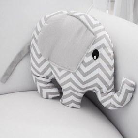 Almofada Elefante Chevron Cinza