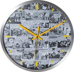 Relógio de Parede DC Comics Quadrinhos Preto e Branco em Metal - Urban