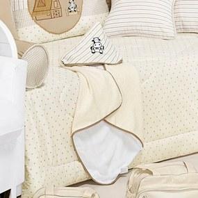 Toalha de Banho com Capuz Para Bebê Menino Ia-IA-O Palha