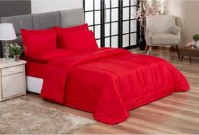 Jogo de Cama Primor Queen Kit 6 Pçs Vermelho Casa Dona