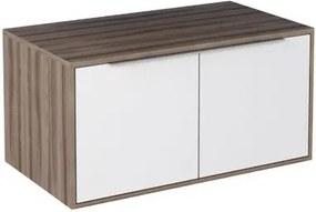 Gabinete Módulo Suspenso para Banheiro 80cm MDF Arati Tamarindo com Branco 80x40x43,1cm - Cozimax - Cozimax