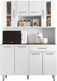 Kit Cozinha Compacta Gabi 8 Portas Branco - Poliman