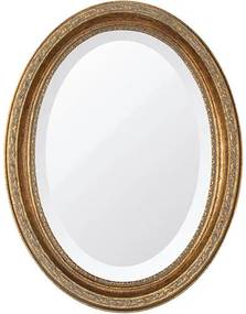 Espelho Oval Bisotê Ouro Envelhecido Pequeno