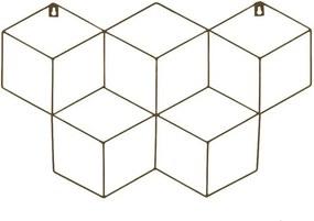 Memory Board Cubo Quadro de Fotos Marrom - 45cm x 63cm + 3 Mini Prendedores