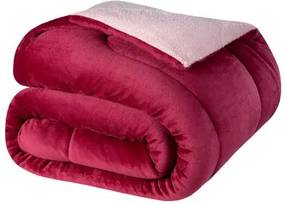 Cobertor Casal Lepper -Coberdrom Dupla Face Liso Prisma Bordo