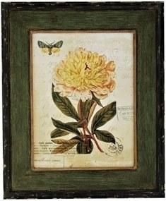 quadro FLOR de madeira 56cm Ilunato HD0036