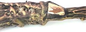 Vassoura de Bruxa com Pedra (50cm)