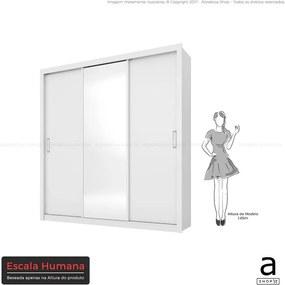 Guarda-roupa Gradum C/ 1 Porta Espelhada Branco DST