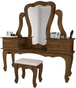 Penteadeira Com Espelho Elizabeth 7900 Jb Bechara Canela