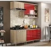 Cozinha Modulada Sicilia Argila Vermelho 04 Modulos Multimoveis
