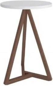 Mesa Lateral Classic Branco Com Amêndoa – Tebarrot Móveis