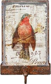 Gancho Simples Tela Rústico Pássaro