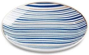 Mini Prato Redondo Decorativo 12,5 cm - Azul e Dourado - Mart