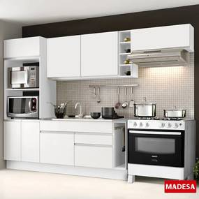 Cozinha Compacta 7 Portas Safira G201800709st Branco - Madesa