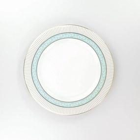 Conjunto de Pratos Rasos Porcelana Schmidt 06 Peças - Dec. Audrey