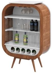 Adega Bar Mini Decor Pés Palito- Wood Prime LL 10736