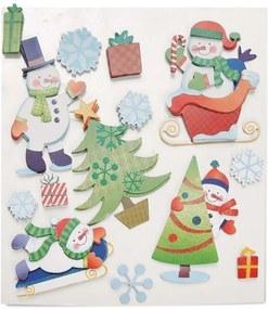 Adesivos Em Gel De Natal Removível Colorido