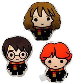 Kit 3 Almofadas Decorativa Harry Potter Harry Hermione e Ron