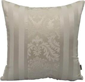 Almofada Listras Brancas Com Arabesco 50x50 cm - Classic