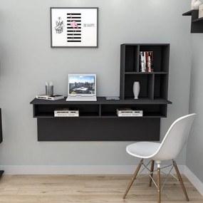 Escrivaninha para Home Office Planejado Appunto Work Smart Preto Branco/Branco