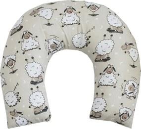 Almofada de Pescoço para Bebê Ovelha Palha