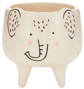 Cachepot Vaso Decorativo de Cerâmica Elefante Charmoso