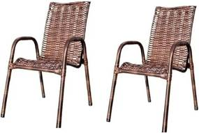 Kit C/ 2 Cadeiras De Junco(Baixa) – JM Metalúrgica