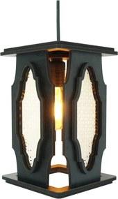 Luminária Pendente Marroquino Crie Casa Preta Pequena