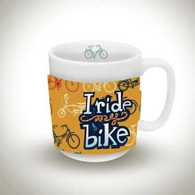 Caneca I Ride My Bike laranja