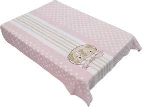 Cobertor para Berço Acalanto - Cachorrinhos Rosa - Colibri