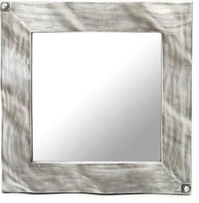 Espelho Prata Quadrado Moderno 63x63cm