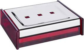 Saboneteira Quadrata Vermelho