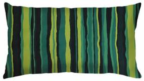 Capa de Almofada Estampa Listrada Verde e Preto 60x30
