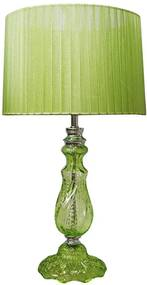 Luminária de Mesa Ille de Couleur Pleat Shade Verde em Metal - Urban