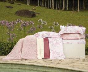Cobertor Queen Slim Peles Dupla Face com Porta Travesseiro - Blush