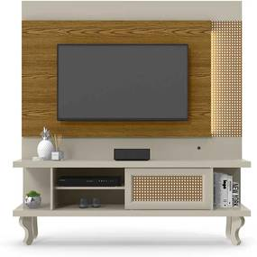 Home Luminos Para Tv 46 Polegadas Patrimar Off White/cumaru