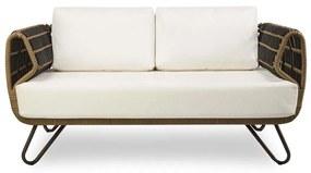 Sofá Summer Área Externa Fibra Sintética Estrutura Alumínio Eco Friendly Design Scaburi