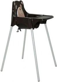 Cadeira para Refeição Infantil Tramontina Teddy em Polipropileno Marrom
