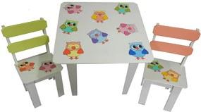 Mesa Filomena Mena Mena Infantil de Coruja com Cadeiras