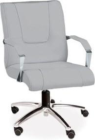 Cadeira Escritório Master Director, c/ rodízios, c/ braços, regulagem de altura à gás, giratória, Revestimento - FA 151 - Facto Rato