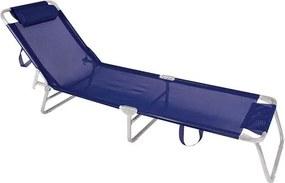 Cadeira Espreguiçadeira Alumínio Mor Azul Marinho